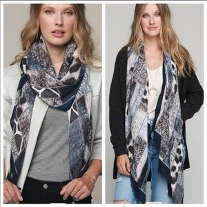 Accessories - Mixed animal print oblong scarf